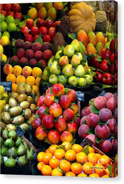 Market Time Canvas Print