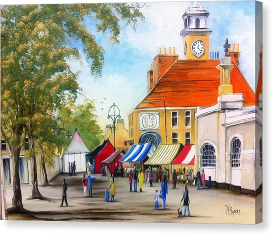 Markets On High Street Canvas Print