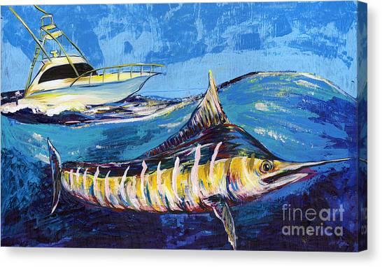 Midnite Canvas Print - Marlin At Sea by Lovejoy Creations