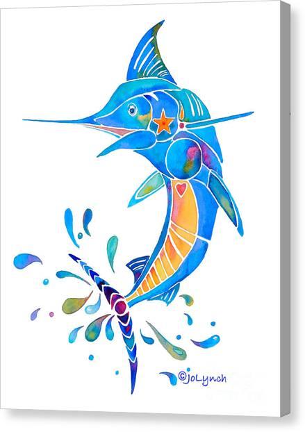 Marlin Dance Of Color Canvas Print
