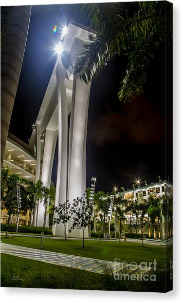 Miami Marlins Canvas Print - Marlins Park Stadium Miami 11 by Rene Triay Photography