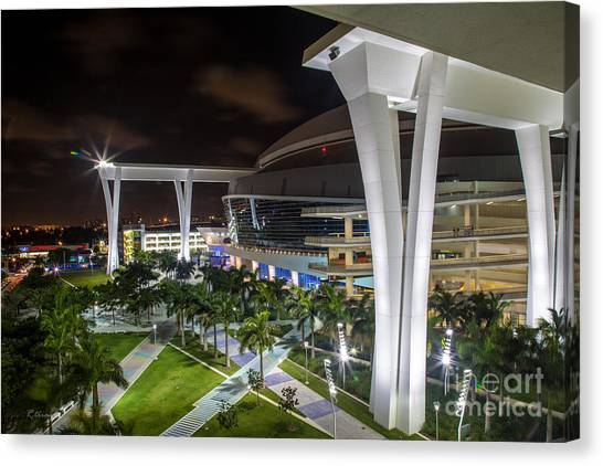 Miami Marlins Canvas Print - Marlins Park Stadium Miami 14 by Rene Triay Photography