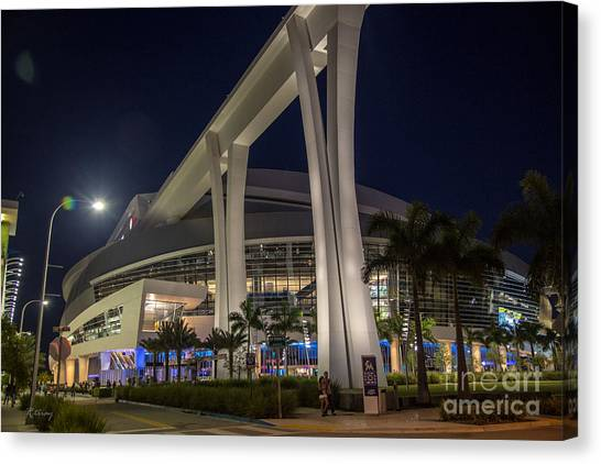 Miami Marlins Canvas Print - Marlins Park Stadium Miami 2 by Rene Triay Photography