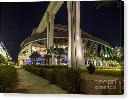 Miami Marlins Canvas Print - Marlins Park Stadium Miami 3 by Rene Triay Photography