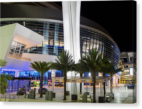 Miami Marlins Canvas Print - Marlins Park Stadium Miami 5 by Rene Triay Photography