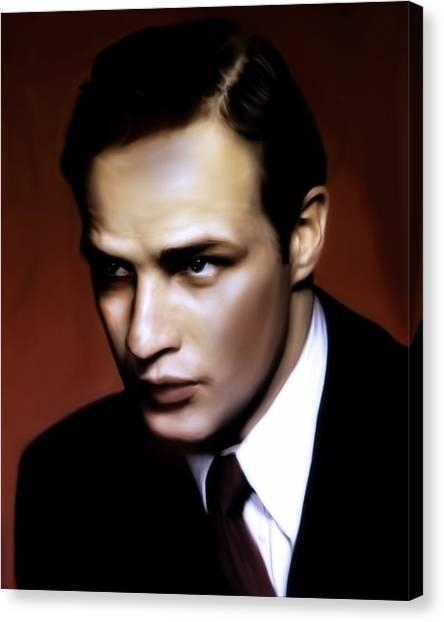 Marlon Brando Tribute Canvas Print