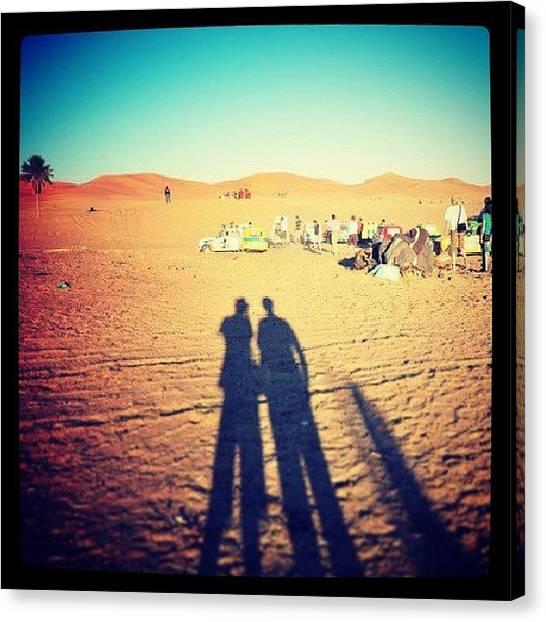 Sahara Desert Canvas Print - #maroc #merzouga #4ltrophy 2011 by Bastien Crq
