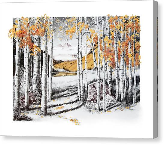 Maroon Bells Gold Canvas Print