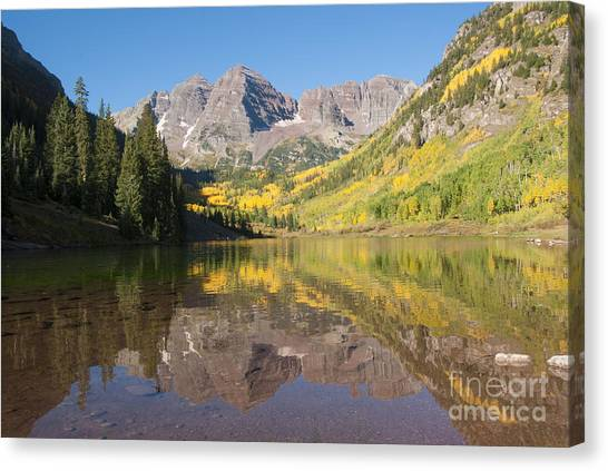 Colorado Rockies Canvas Print - Maroon Bells In Autumn by Juli Scalzi