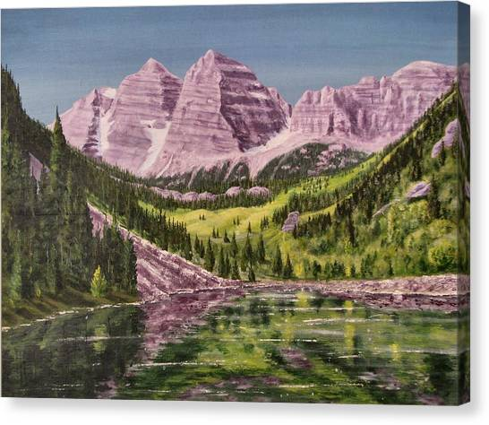 Maroon Bells Revisited Canvas Print by Dana Carroll