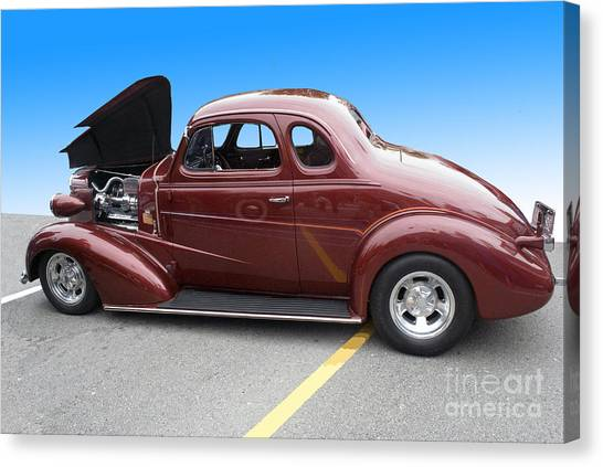 Maroon Coupe Canvas Print