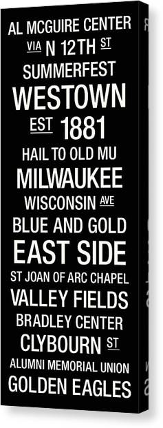 University Of Wisconsin - Madison Canvas Print - Marquette College Town Wall Art by Replay Photos