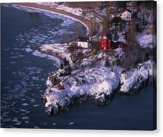 Marquette University Canvas Print - Marquette Harbor Lighthouse by Panoramic Images