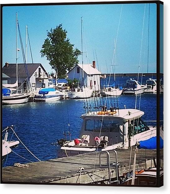 Marquette University Canvas Print - #marquette #michigan #harbor by Susan Bochantin