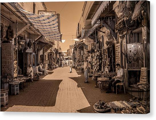 Marrackech Souk At Noon Canvas Print