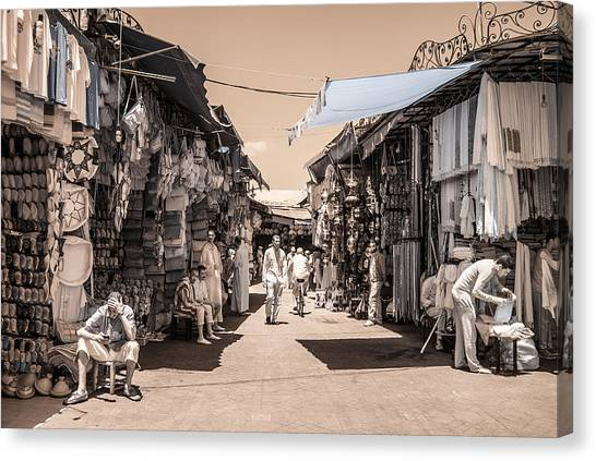 Marrakech Souk Canvas Print