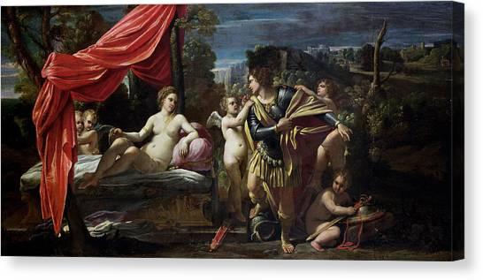 God Of War Canvas Print - Mars And Venus by Sisto Badalocchio
