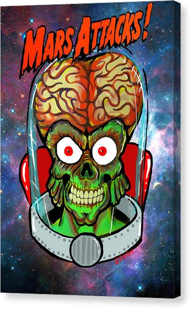 Mars Attacks Canvas Print by Gary Niles