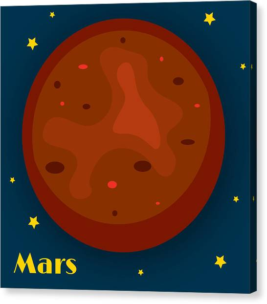Outer Space Canvas Print - Mars by Christy Beckwith