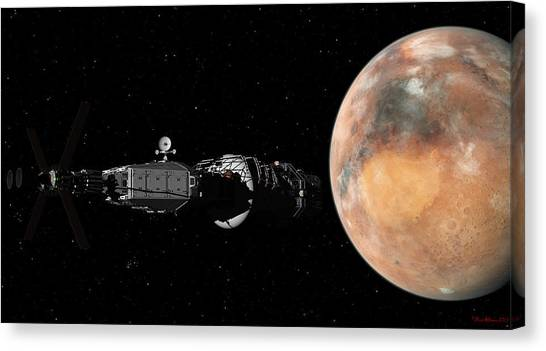 Mars Insertion A Different View Canvas Print