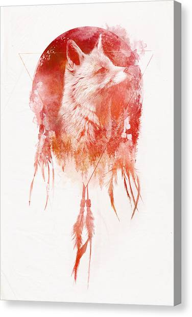 Fox Canvas Print - Mars by Robert Farkas