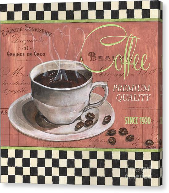 Bistros Canvas Print - Marsala Coffee 1 by Debbie DeWitt