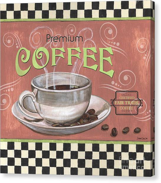 Bistros Canvas Print - Marsala Coffee 2 by Debbie DeWitt