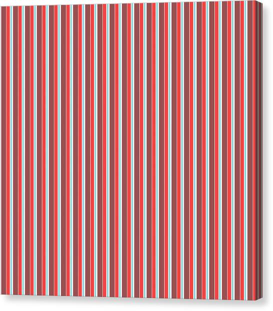 Art Nouveau Canvas Print - Marsala Stripe 2 by Linda Woods