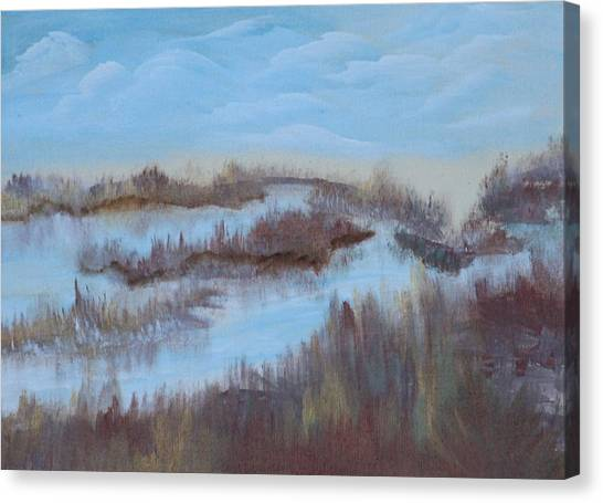Marsh Land Canvas Print by Mary Grabill