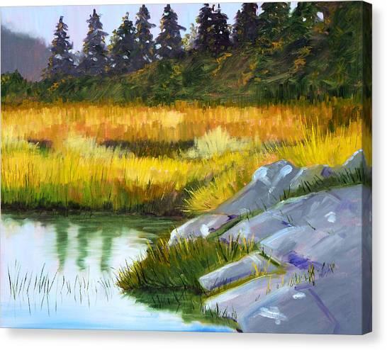 Marshes Canvas Print - Marsh by Nancy Merkle