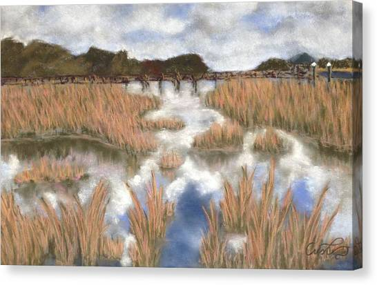 Marsh Reflections Canvas Print by Cristel Mol-Dellepoort
