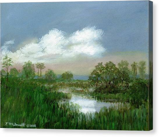 Marsh Sketch Canvas Print