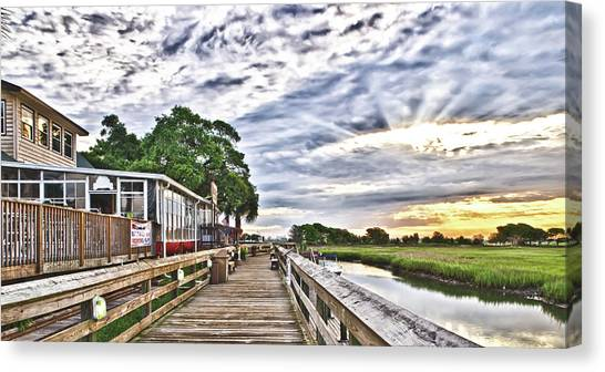 Marsh Walk 1 - Murrells Inlet Canvas Print