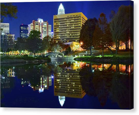 Charlotte Bobcats Canvas Print - Marshall Park Reflection by Frozen in Time Fine Art Photography