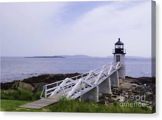 Marshall Point Light 1 Stylized Canvas Print