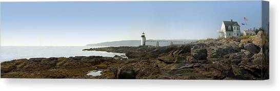 Keeper Canvas Print - Marshall Point Lighthouse - Panoramic by Mike McGlothlen