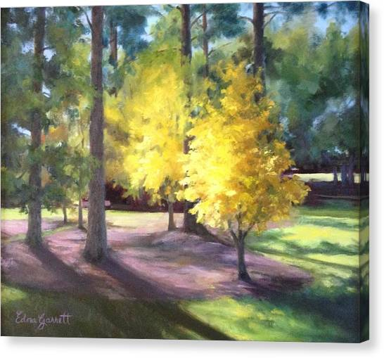 Marshallville Landscape With Yellow Trees Canvas Print