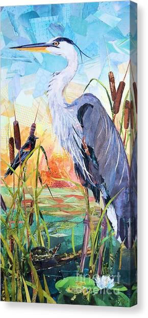 Marshland Moring Canvas Print