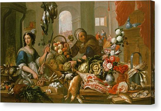 Carcass Canvas Print - Martha And Mary by Frans Ykens