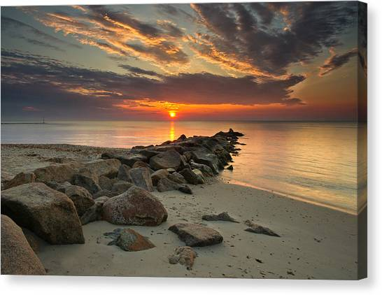 Marthas Vineyard Canvas Print - Marthas Vineyard Sunrise by Darylann Leonard Photography