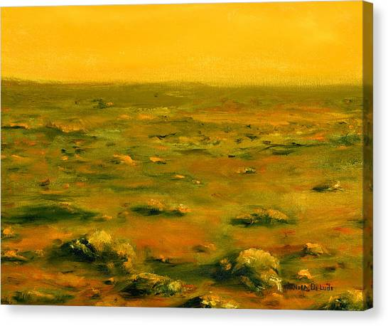Martian Desert Landscape Art  Canvas Print