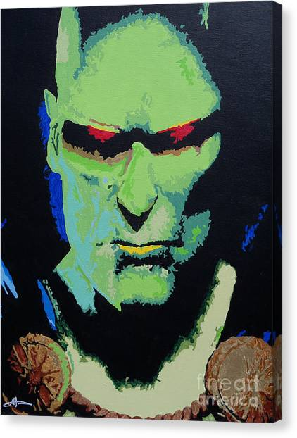Patriot League Canvas Print - Martian Manhunter - A Close Encounter by Kelly Hartman