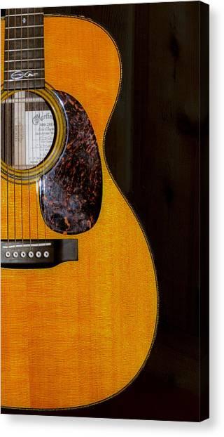 Eric Clapton Canvas Print - Martin Guitar  by Bill Cannon