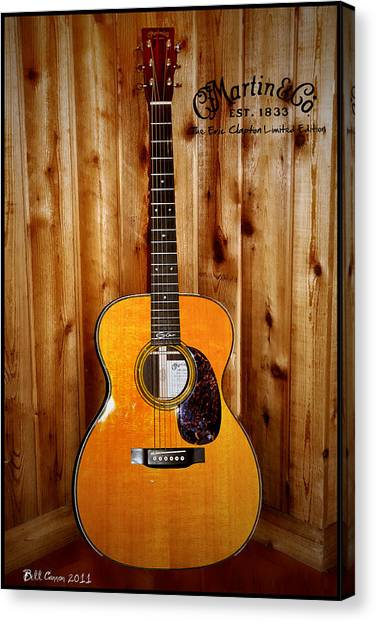 Martin Guitar - The Eric Clapton Limited Edition Canvas Print