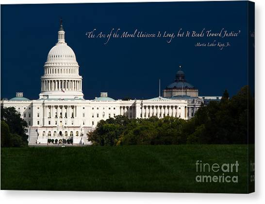 D.c. United Canvas Print - Martin Luther King Jr. by Doug Sturgess
