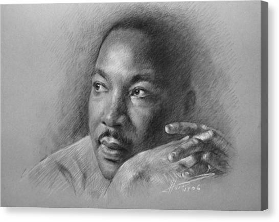 Rights Canvas Print - Martin Luther King Jr by Ylli Haruni
