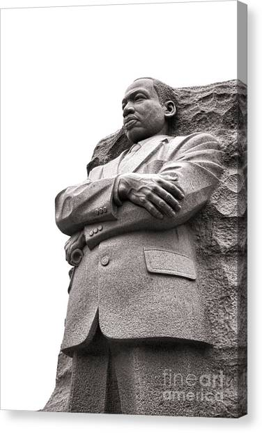 D.c. United Canvas Print - Martin Luther King Memorial Statue by Olivier Le Queinec