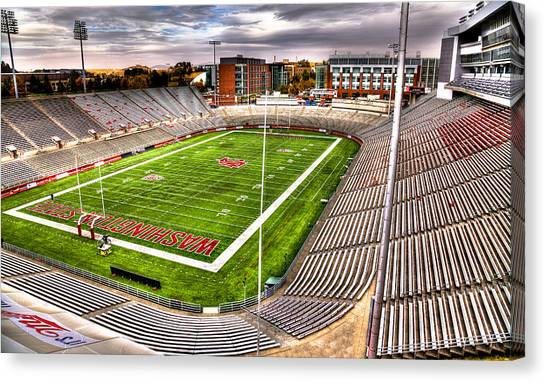 Pac 12 Canvas Print - Martin Stadium At Washington State by David Patterson