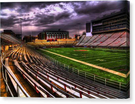 Washington State University Canvas Print - Martin Stadium - Home Of Wsu Football by David Patterson