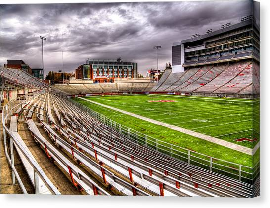 Washington State University Canvas Print - Martin Stadium In Pullman Washington by David Patterson